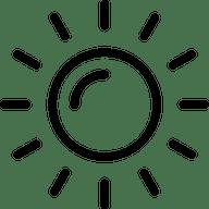 sun graphic line icon