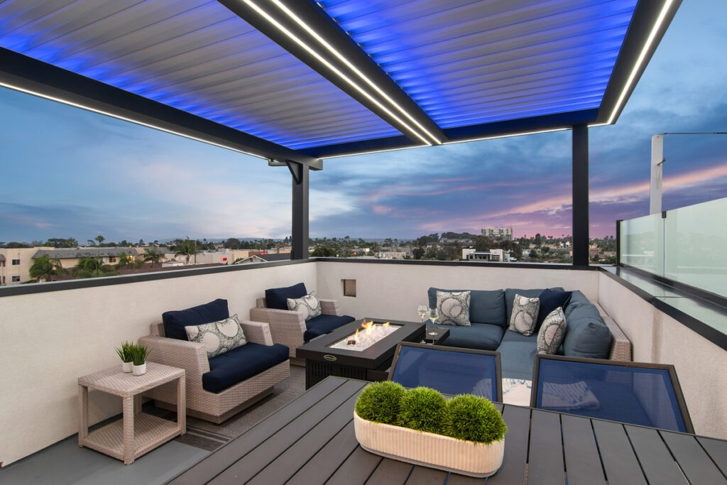covered patio - louvered roof